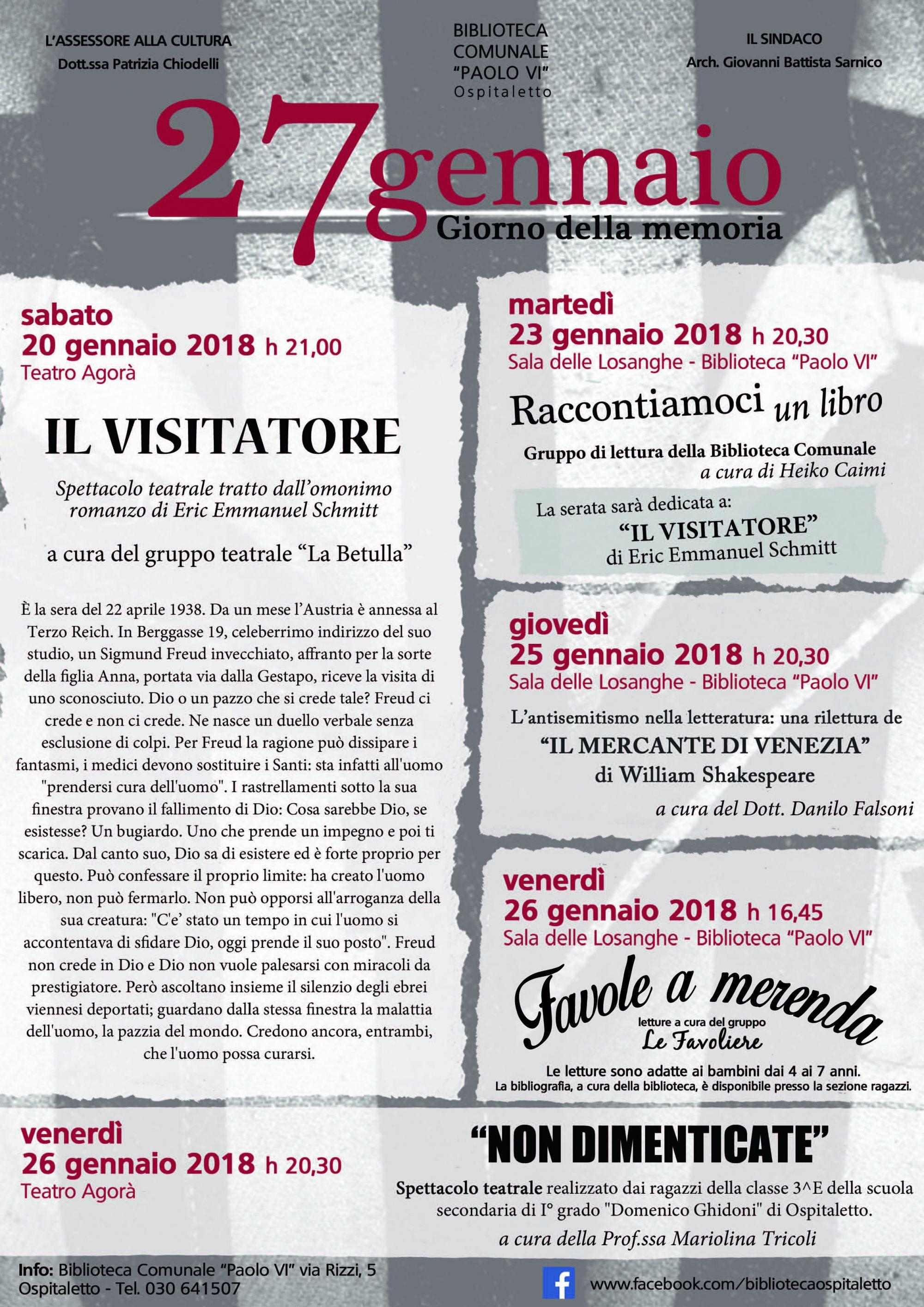 2018 01 19 - 02 05 Ospitaletto - giorno memoria 2018