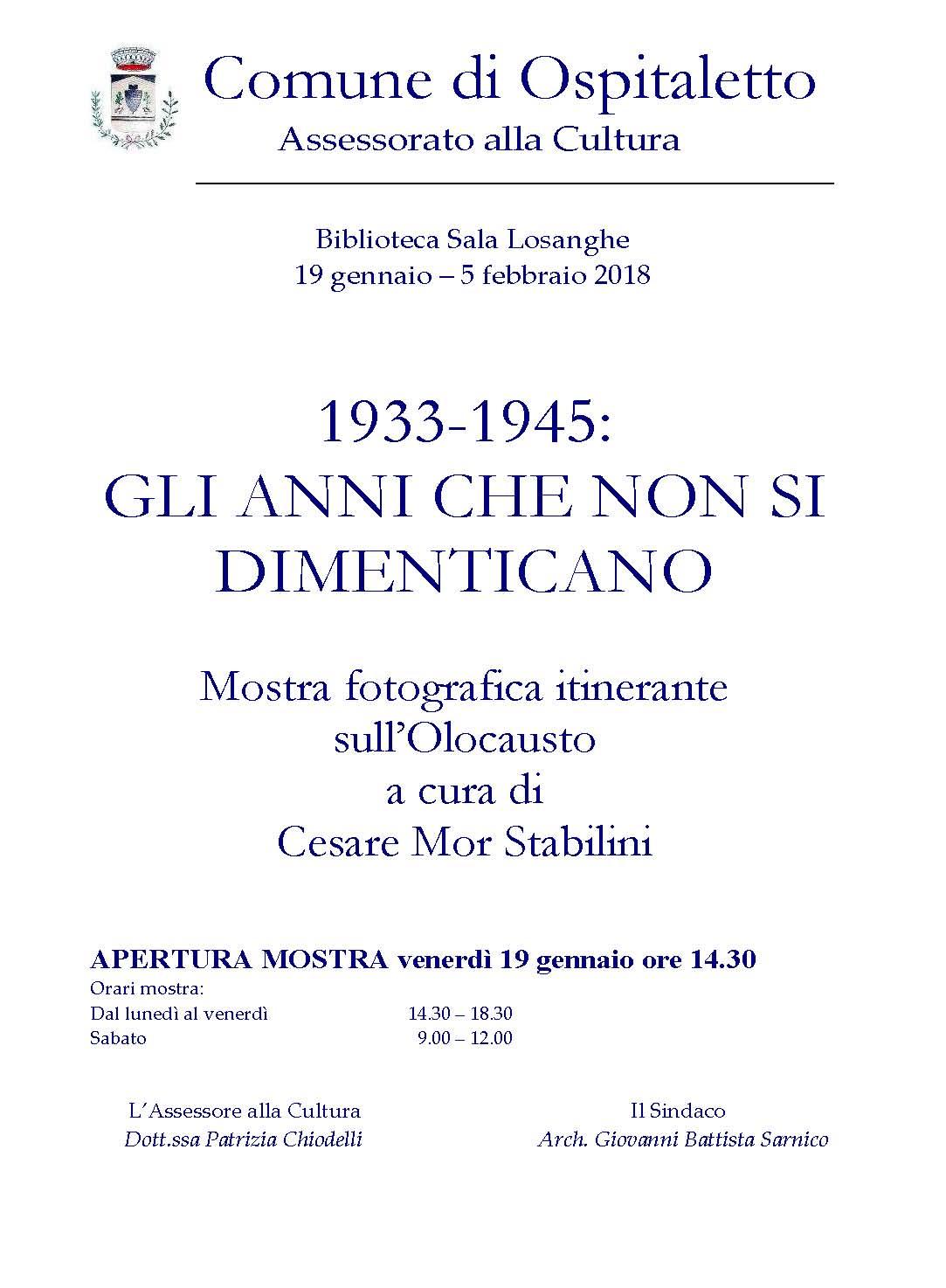 2018 01 19 - 02 05 Ospitaletto - mostra fotografica