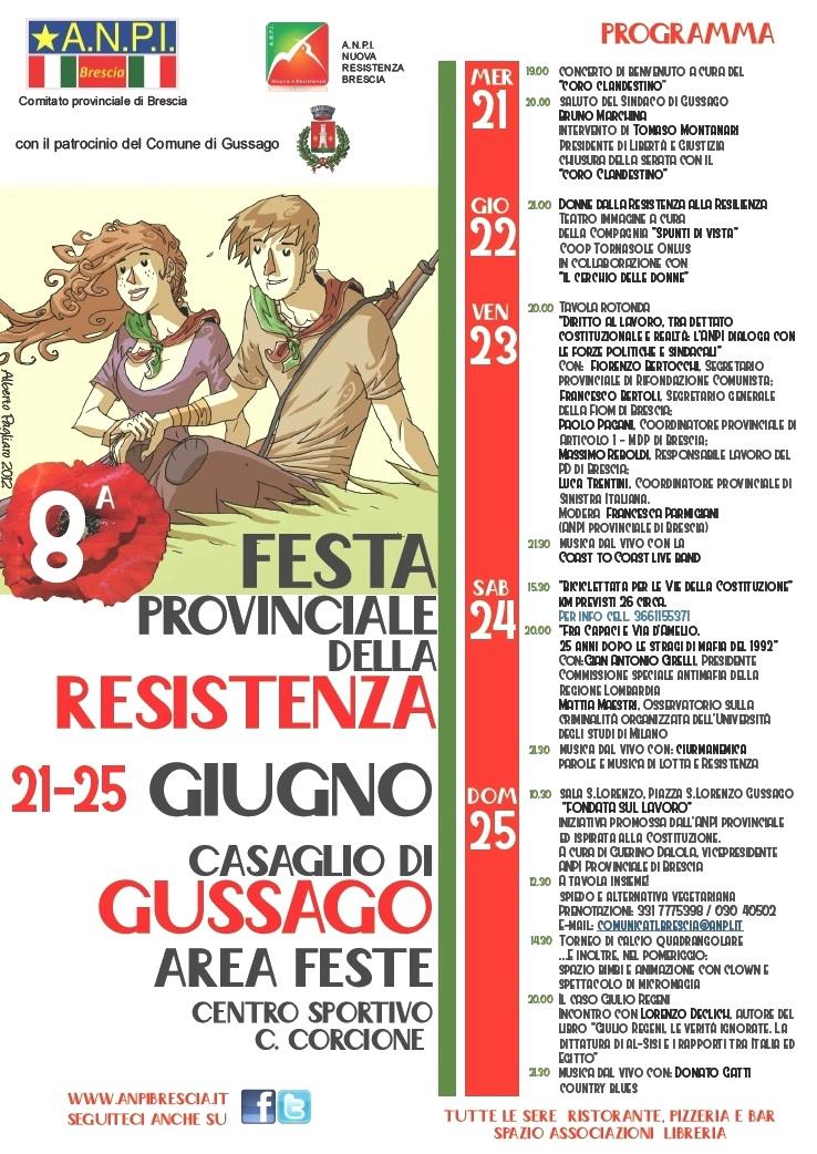 Manifesto Festa provinciale della Resistenza 2017