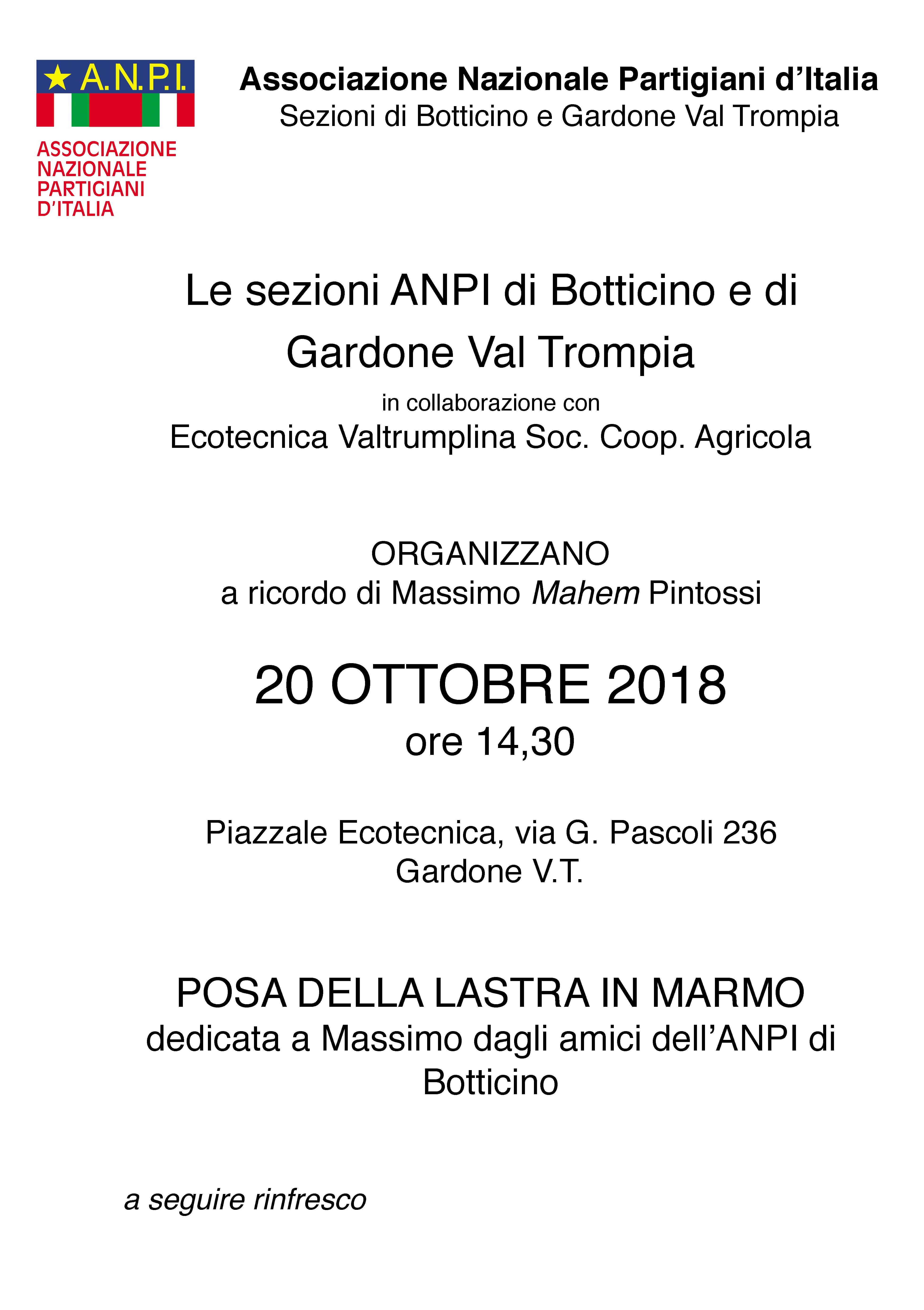 z 2018 10 20 - ANPI Botticino